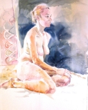 seated fair nude